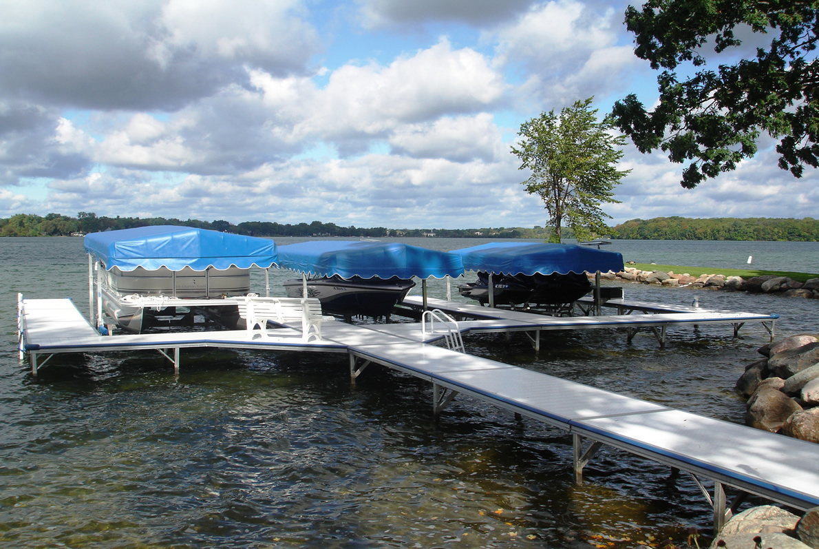 Instant Marine Docks : Series stationary boat docks made in michigan
